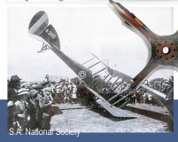 Millers aircraft in P.E. with propellor in Golf Club