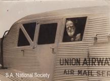 Bernard Shaw flying with Union Airways