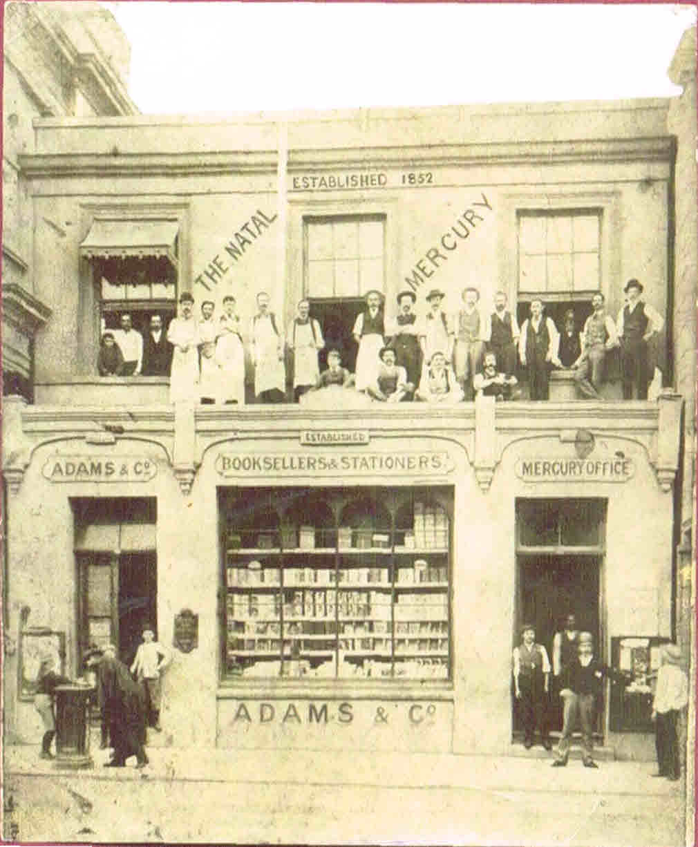 Adams - Stationers and Booksellers 1865 Premises