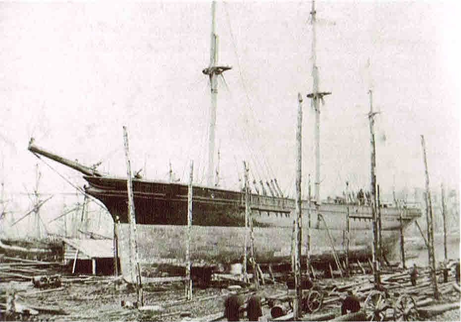 The Prince Alfred - one of the faster sailing vessels to ply the United Kingdom to South Africa and Australia route - brought Francis and Stanhope Adams to Durban in November 1863. Mr Greenacre was a fellow passenger.