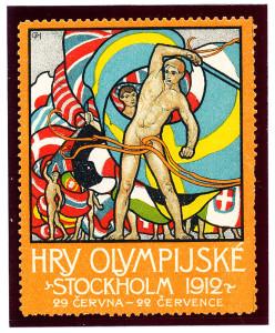 Postal Label-Stockholm Olympics