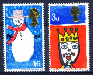 UK First Christmas Stamps 1966