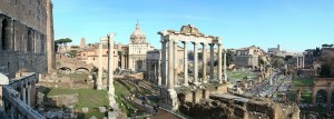 Foro Romano, Colosseum & Surroundings Photo created by Danny Boy stitching several shots together - ex Wikipedia