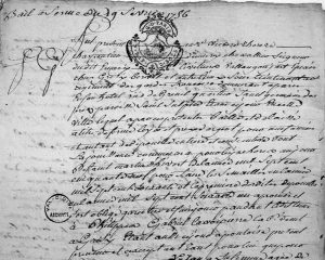 Example of notarized document France