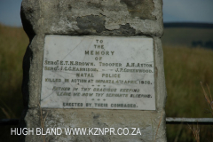 Bambata memorial - Natal Police - Sgt E Brown-C Harrison Tpr A Aston & J Greenwood - S 28.58.437 E30.34 (1)