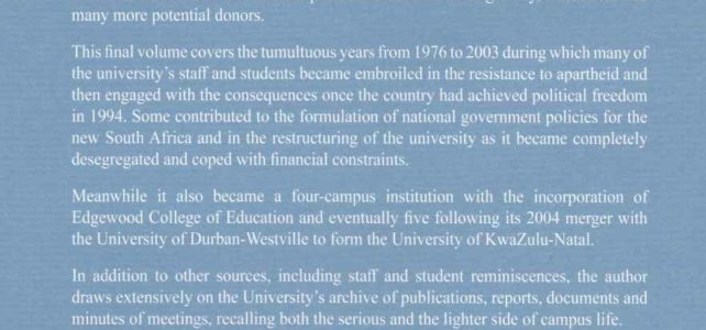 Stella Aurora – The History of a South African University. Volume III by Bill Guest